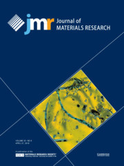 Cover image of the Journal of Materials Research