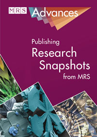Cover image of MRS Advances
