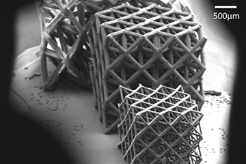 Ceramic metamaterials form detailed microarchitectured lattices stable at high temperatures