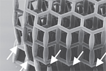 Friction from initial failures allows microlattices to retain their performance