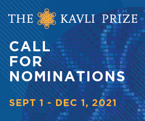The Kavli Prize Call for Nominations | September 1 - December 1, 2021