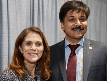 Photo of Diane Rosenbaum and Sanjay Mathur