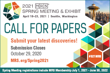MRS 2021 Spring Meeting Call for Papers