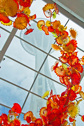A display at Chihuly Garden and Glass