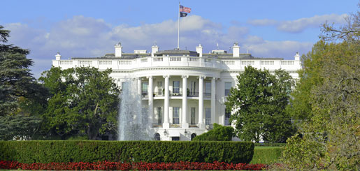 Exterior image of the White House
