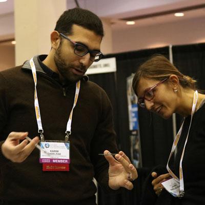 Innovators at iMatSci demonstrate their new technology.